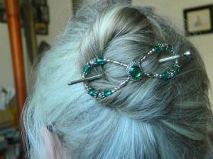 hair style silver bun